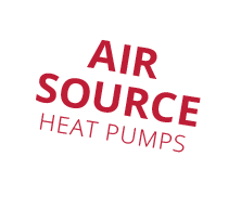 air source heat pumps speech bubble